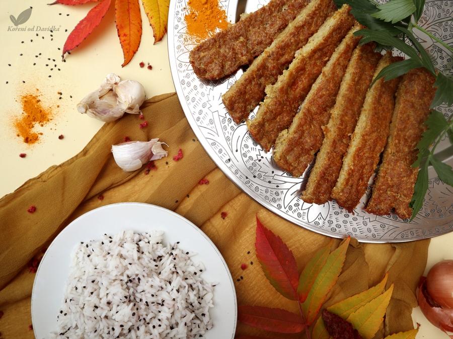 Perzský hoväzí kebab s jasmínovou ryžou so sezamom