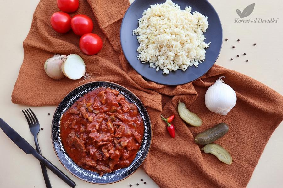 Azu po tatarsky s ryžou