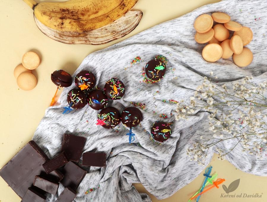 Piškótové banánky v čokoláde