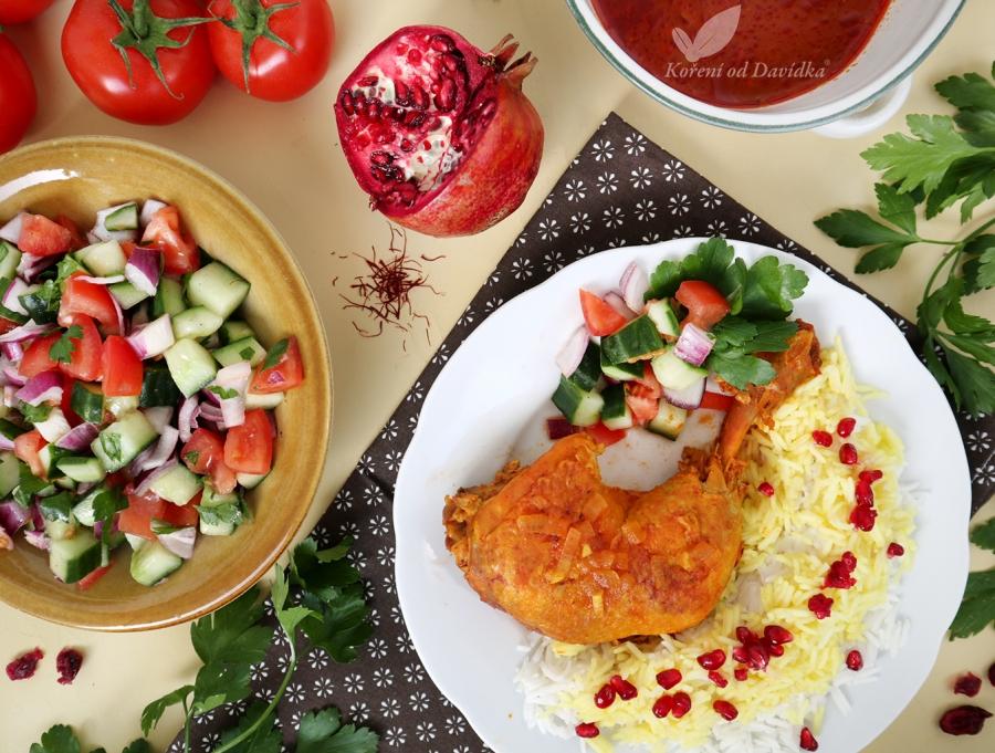Perzské šafránové kurča