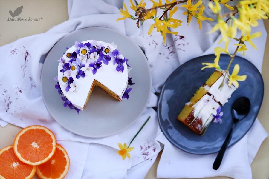 Šafranová torta s domácou citrusovou marmeládou