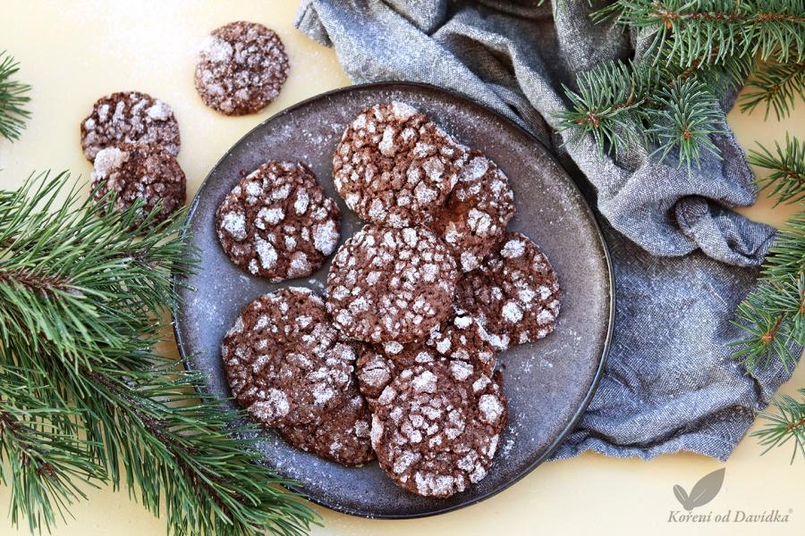 Zasnežené vianočné sušienky