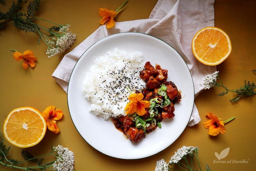 Ázijské pomarančové kurča