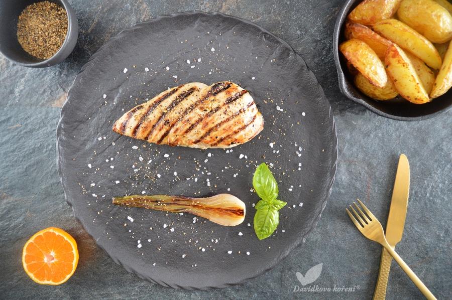 Grilovaný morčací steak na pomarančovom korení